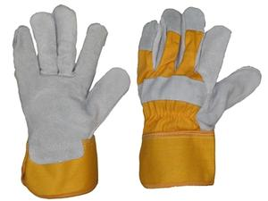Product image: DNC Cow Grain Leather - yellow/Grey