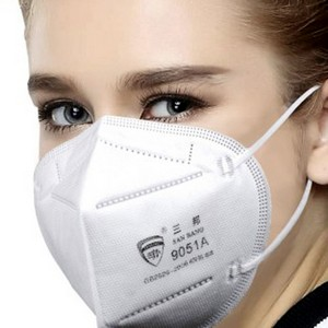 Product image: KN95 White Fabric Disposible Face Masks