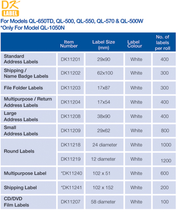 Brother DK Labels - SmartSupplies office supplies