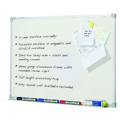 Product image: Penrite Porcelain Wall Mounted Whiteboard