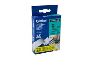 Product image: Brother Black On Green Labelling Tape
