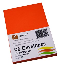 Product image: Quill XL C6 Coloured Envelopes