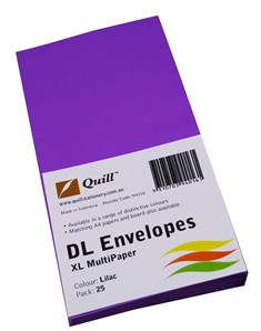 Product image: Quill XL DL Coloured Envelopes