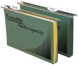 Product image: Crystalfile Green Foolscap Suspension Files