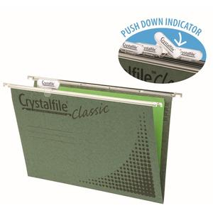 Product image: Crystalfile Green A4 Suspension Files