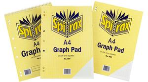 Product image: Spirax Top Opening A4 Graph Pads