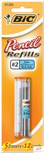 Product image: Bic Pencil Lead & Eraser Refills