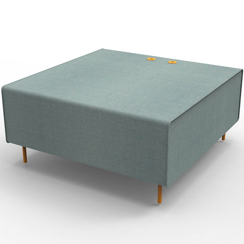 Product image: Rapidline Flexi Lounge Single Seat Module 925 X 940 X 430Mm Light Blue