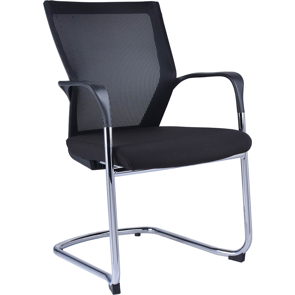 Product image: Spencer Visitor Chair Mesh Back With Cantilever Base Black