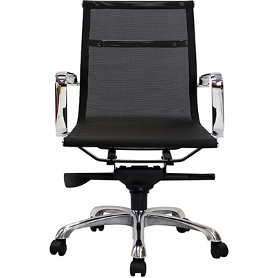 Product image: Aero Managers Chair Medium Mesh Back With Arms Black