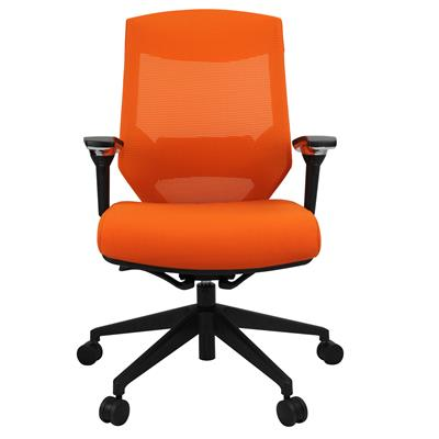 Product image: Vogue Mesh Back Chair Arms Orange