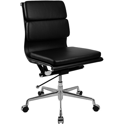 Product image: Manta Managers Chair Medium Back Leather Black