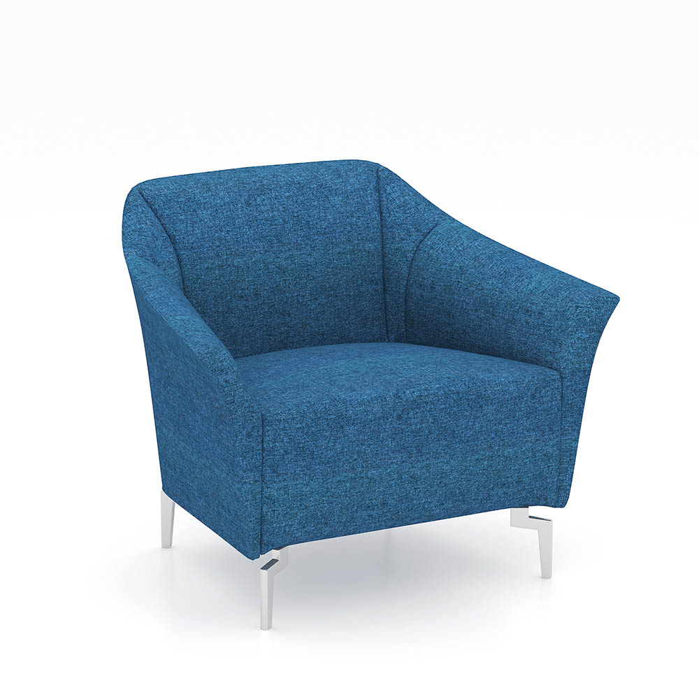 Product image: Venice Fabric Sofa Chair Single Seater Blue