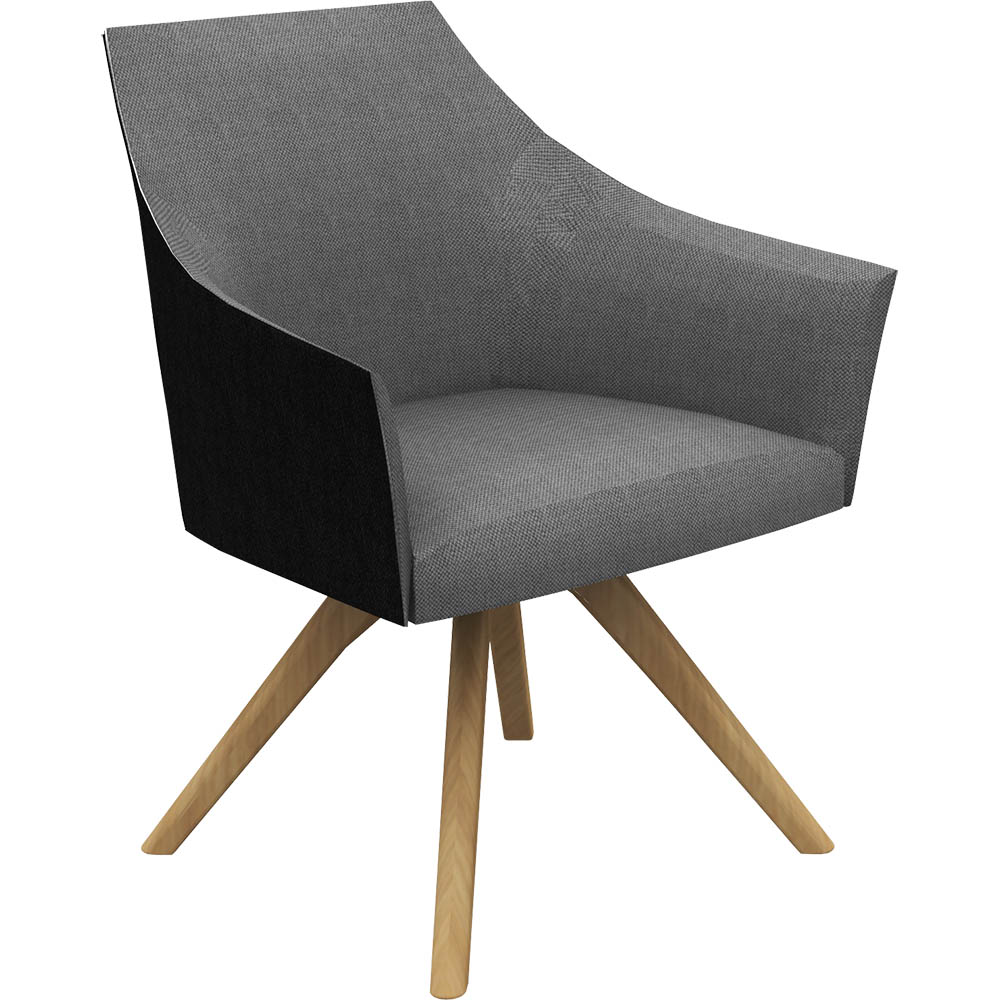 Product image: Tulip Tub Chair Dark Charcoal Fabric