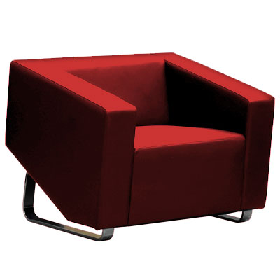 Product image: Cube Sofa Lounge Single Seater Red