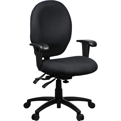 Product image: Duro Heavy Duty Chair Medium Back With Arms Black