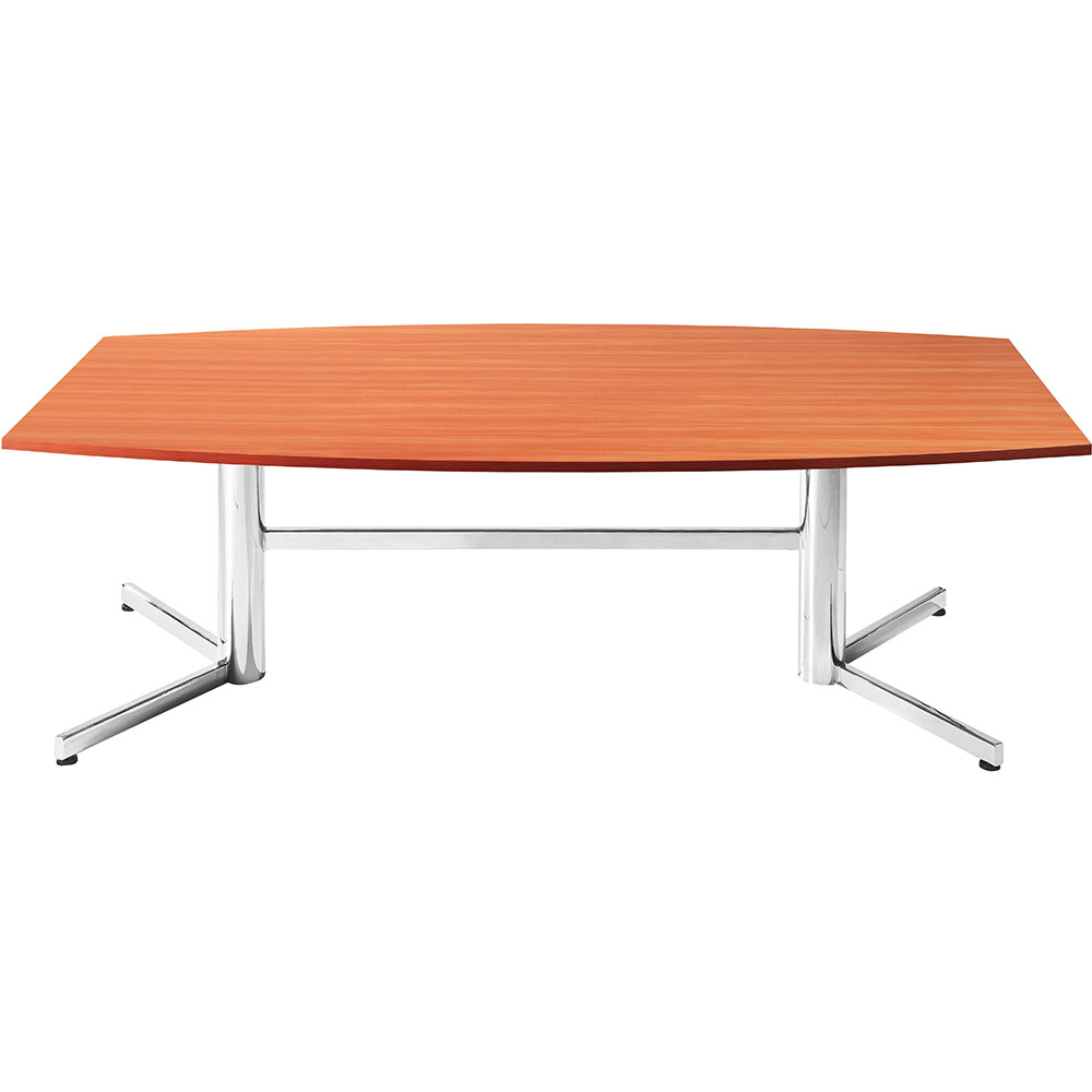 Product image: Om Boardroom Table Boat Shaped 2400 X 1200Mm Cherry