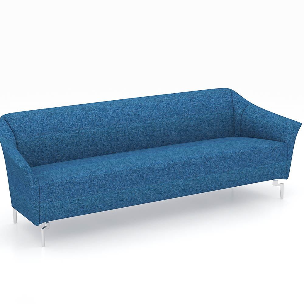 Product image: Venice Fabric Sofa Chair Three Seater Fabric Blue
