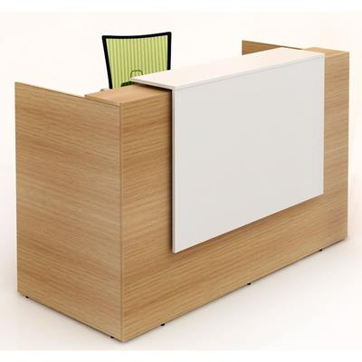 Product image: Sorrento Reception Counter 1800 X 840 X 1150Mm White/Beech