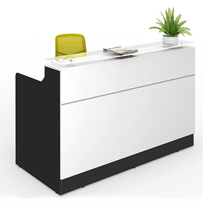 Product image: Classic Reception Counter 1800 X 850 X 1150Mm White/Black