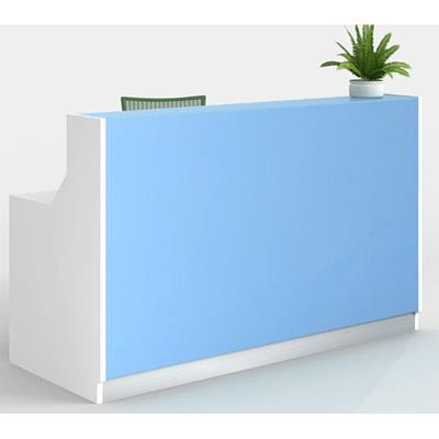 Product image: Roma Reception Counter 1800 X 840 X 1150Mm White/Blue