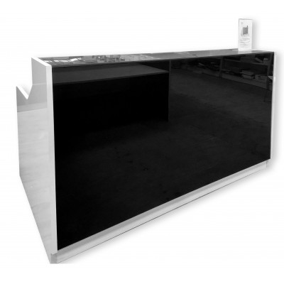 Product image: Roma Reception Counter 1800 X 840 X 1150Mm White/Black
