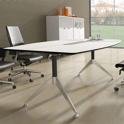 Product image: Potenza Boardroom Table 2400 X 1200 X 750Mm White 2-Pack Finish