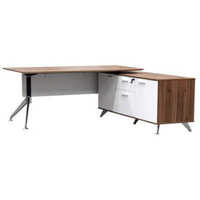 Product image: Potenza Manager Desk With Buffet Right Hand Return 2150 X 1850 X 750Mm