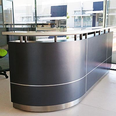Product image: Executive Reception Counter 2750 X 950 X 1150Mm Metallic Grey