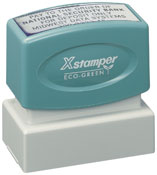 Product image: Xstamper Eco-Green N12 Custom Made Pre Inked Address Stamp 25.4 X 50.8Mm