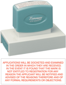 Product image: Xstamper Eco-Green N27 Custom Made Pre Inked Stamp 100 X 41Mm