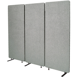 Product image: Visionchart Zip Acoustic Triple Extension Panel 1650 X 1830Mm Silver