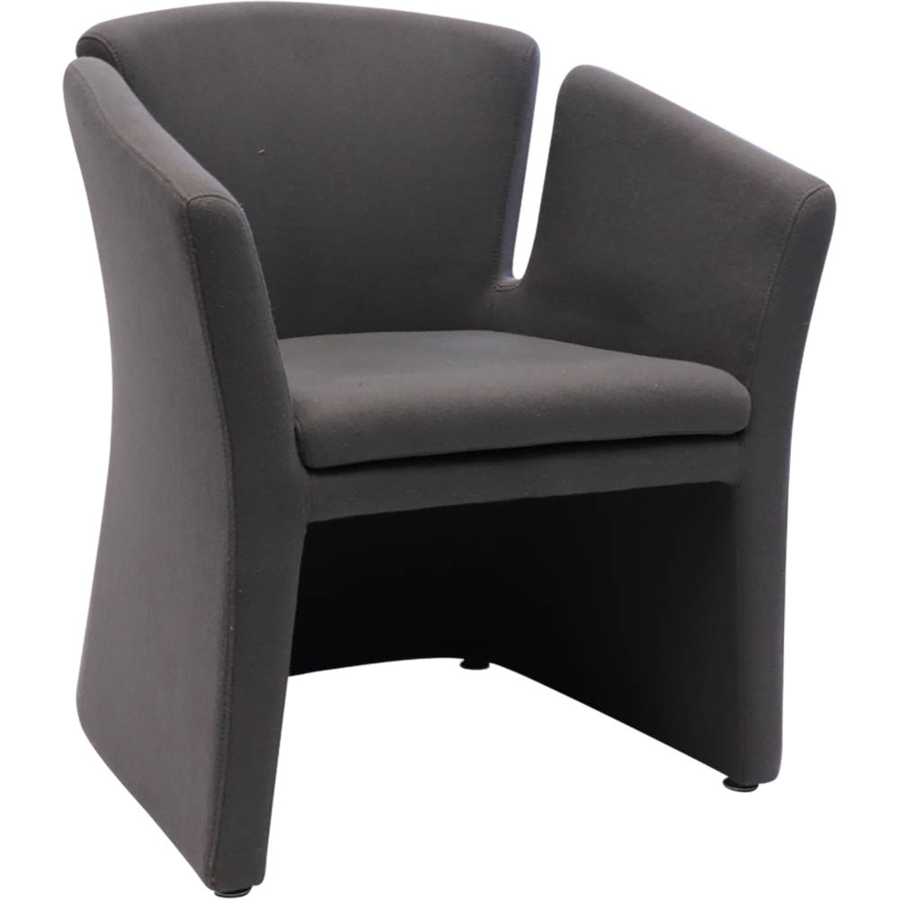 Product image: Rapidline Clover Tub Chair 795 X 680 X 550Mm Charcoal