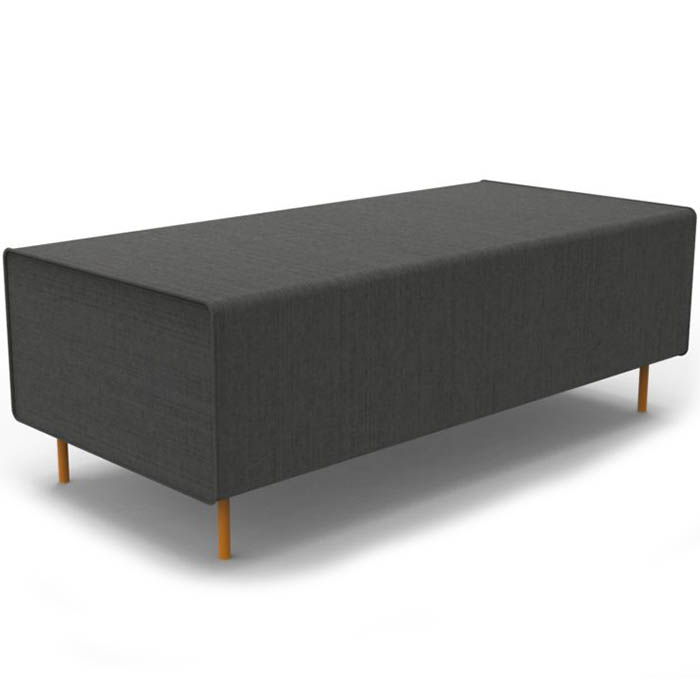 Product image: Rapidline Flexi Lounge Return Seat Module 1245 X 585 X 430Mm Charcoal Ash