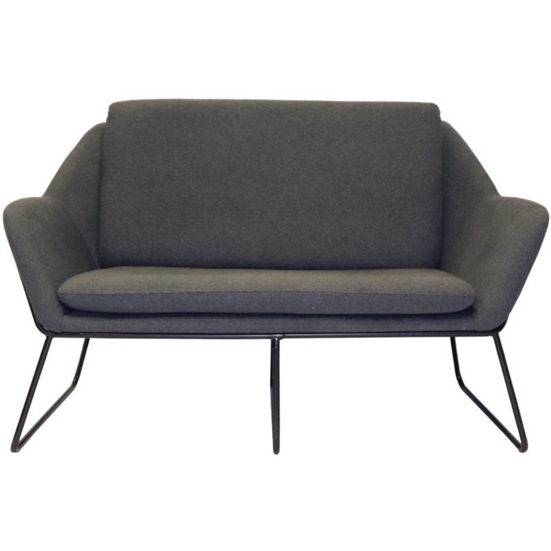 Product image: Rapidline Cardinal Lounge Chair 2 Seater Charcoal Ash