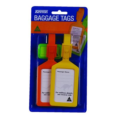 Product image: Kevron Baggage Tags 2 X Id4 And 1 X Id5 Assorted