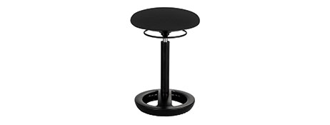Product image: Safco Twixt Active Seating Chair Desk Height Black