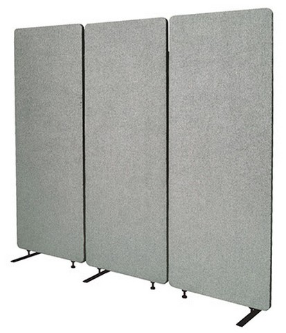 Product image: Visionchart Zip Acoustic Single Extension Panel 1650 X 600mm Silver
