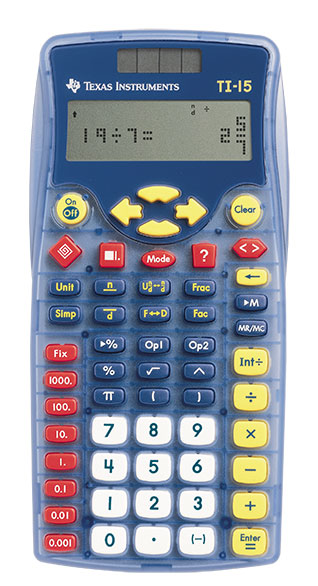 Product image: Texas Instruments Ti15 Basic Calculator
