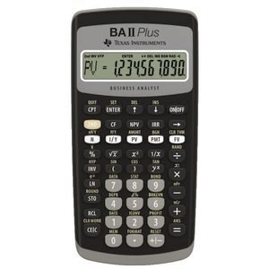 Product image: Texas Instruments Ti Ba-Ii Plus Financial Calculator
