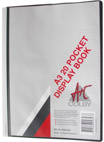 Product image: Colby Art 258A3-SL 20 Pocket Display Book with Insert Cover