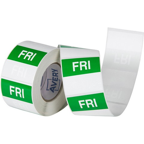Product image: Avery 937340 Removable Day Label Friday 40 X 40Mm Green/White