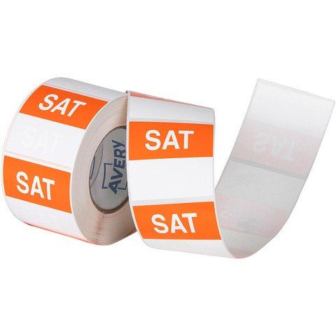 Product image: Avery 937341 Removable Day Label Saturday 40 X 40Mm Orange/White