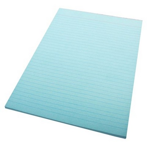 Product image: Quill A4 Bank Ruled Blue 70 Leaf 70Gsm Office Pads
