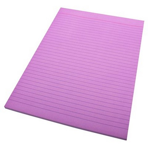 Product image: Quill A4 Bank Ruled Lilac 70 Leaf 70Gsm Office Pads