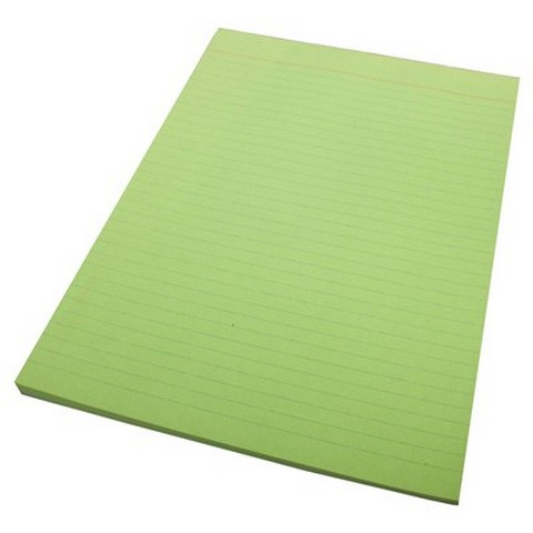 Product image: Quill A4 Bank Ruled Green 70 Leaf 70Gsm Office Pads