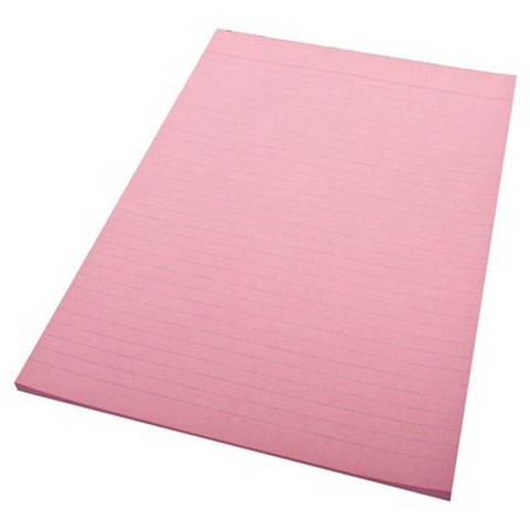 Product image: Quill A4 Bank Ruled Pink 70 Leaf 70Gsm Office Pads