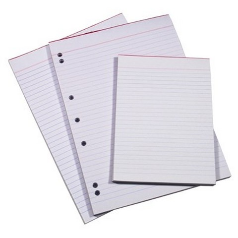 Product image: Quill Bank Pad Ruled 60GSM A4 100 Sheets - White