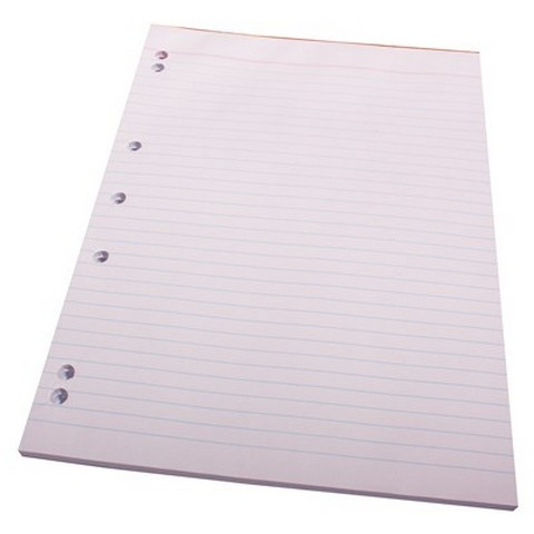 Product image: Quill Bank Pad 7 Hole Punched 60GSM A4 90 Pages - White