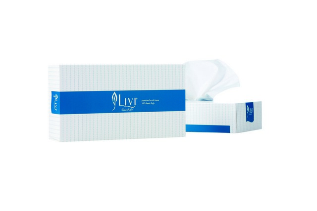 Product image: Livi Essentials Facial 1301 Tissues Hypoallergenic 2 Ply 100 Sheet